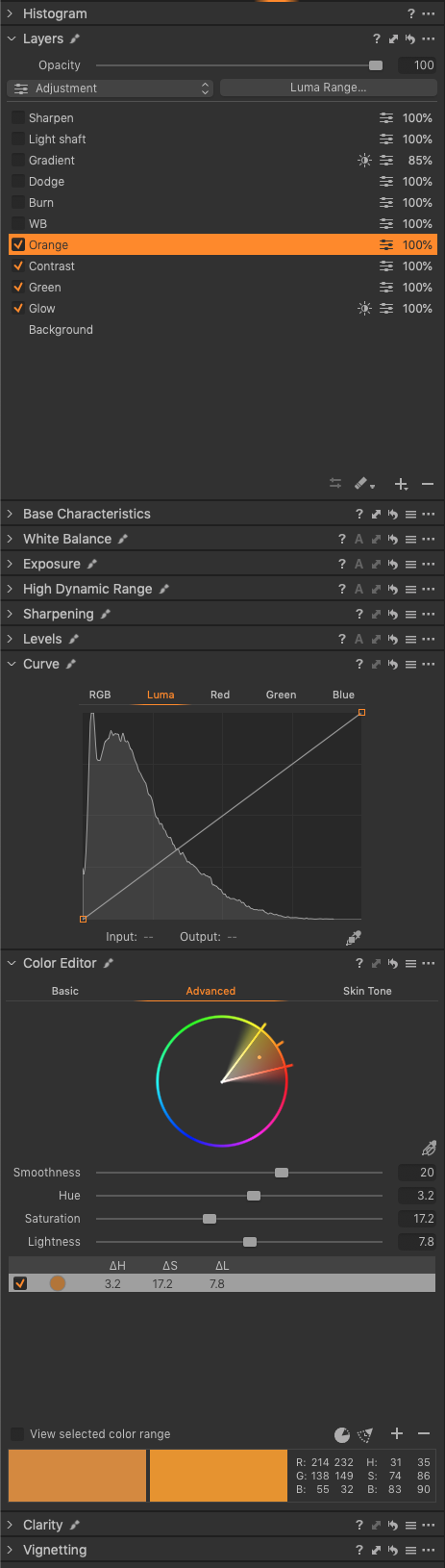 05 Colour Editor Orange