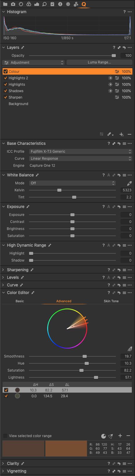 06 - Colour settings